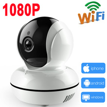 IP Camera 1080P wifi security mini ptz wireless 2MP cam cctv home surveillance system Supports SD record JIENU
