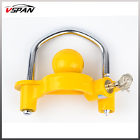 Adjustable Anti Theft Lock Hitch Coupling Lock Trailer Parts Tow Ball Caravan Camping Anti Theft Trailer Recovery Accessories
