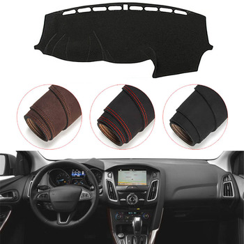 Console Dashboard Suede Mat Protector Sunshield Cover Fit For Ford Focus 3 MK3 2012-2018