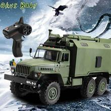 2019 Super Car Ural 1/16 2.4G 6WD RC Car Military Truck Rock Crawler Command Communication Vehicle RTR Toy Auto Army Trucks jjrc q60 jjrc q61 1 16 rc truck 2 4g 6wd 4wd rc off road crawler military truck army car children gift kids toy for boys rtr