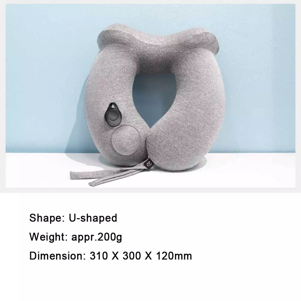 Share to Xiaomi Ergonomic Dual Humps Design U Shaped Soft Memory Travel Portable Press Type Inflatable Neck Pillow (7)