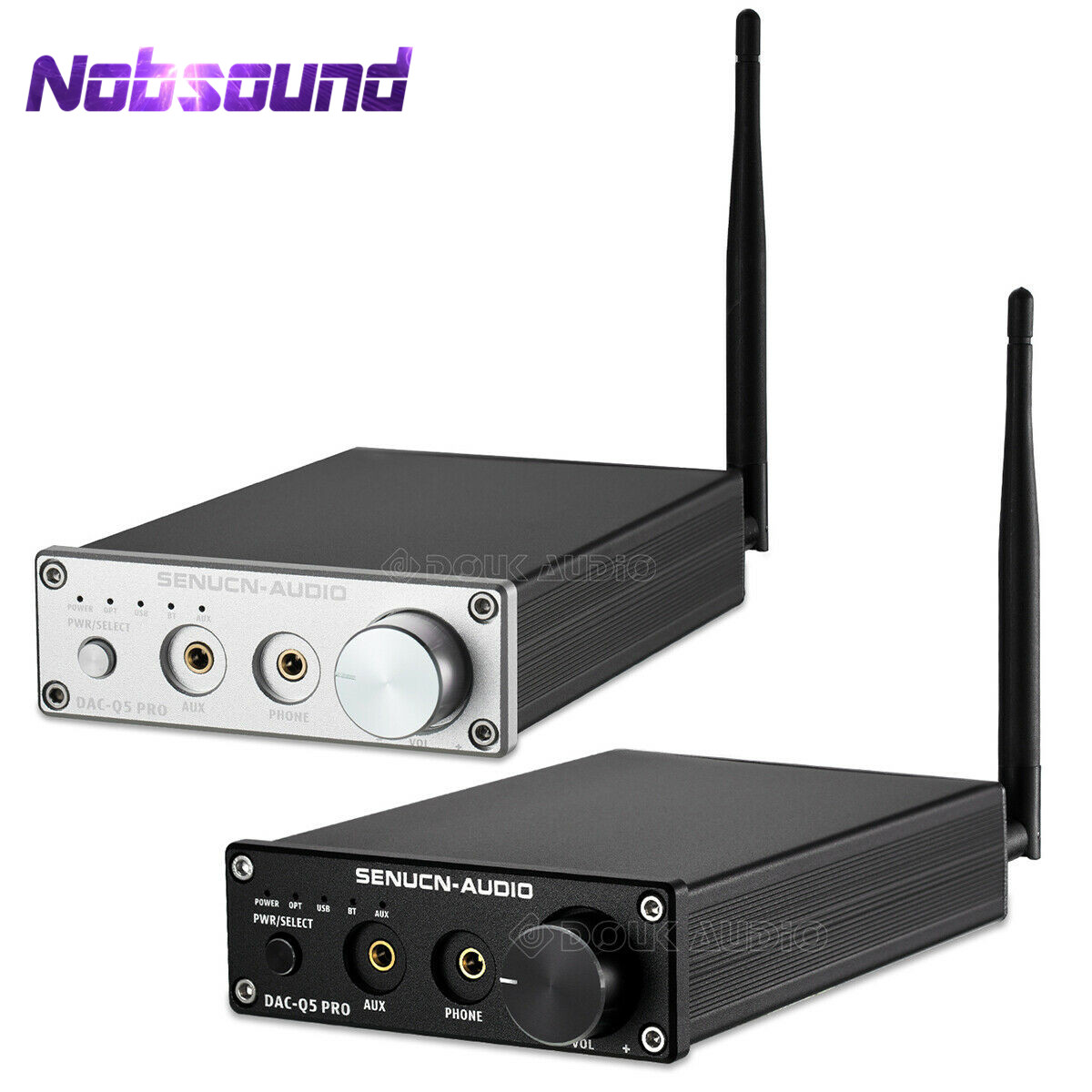 Mini Bluetooth 5.0 USB DAC Audio Decoder Stereo HiFi Headphone Amplifier Optical AUX Black/SilverMini Bluetooth 5.0 USB DAC Audio Decoder Stereo HiFi Headphone Amplifier Optical AUX Black/Silver