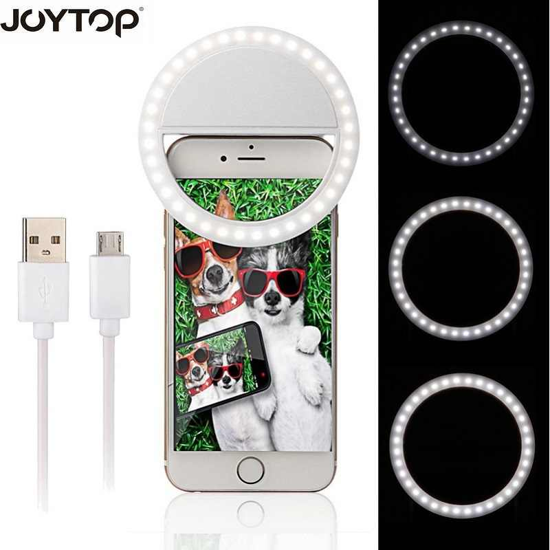 JOYTOP 36 LED Portable Rechargeable Photography Flash Light Up Selfie Luminous Lamp Phone Ring light Night video light
