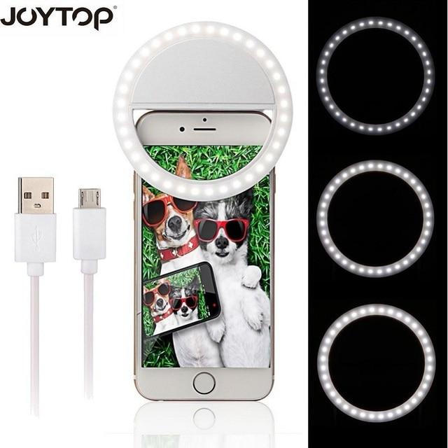 36 LED przenośny akumulator fotografia latarka Up Selfie lampa telefon lampa pierścieniowa noc lampa wideo