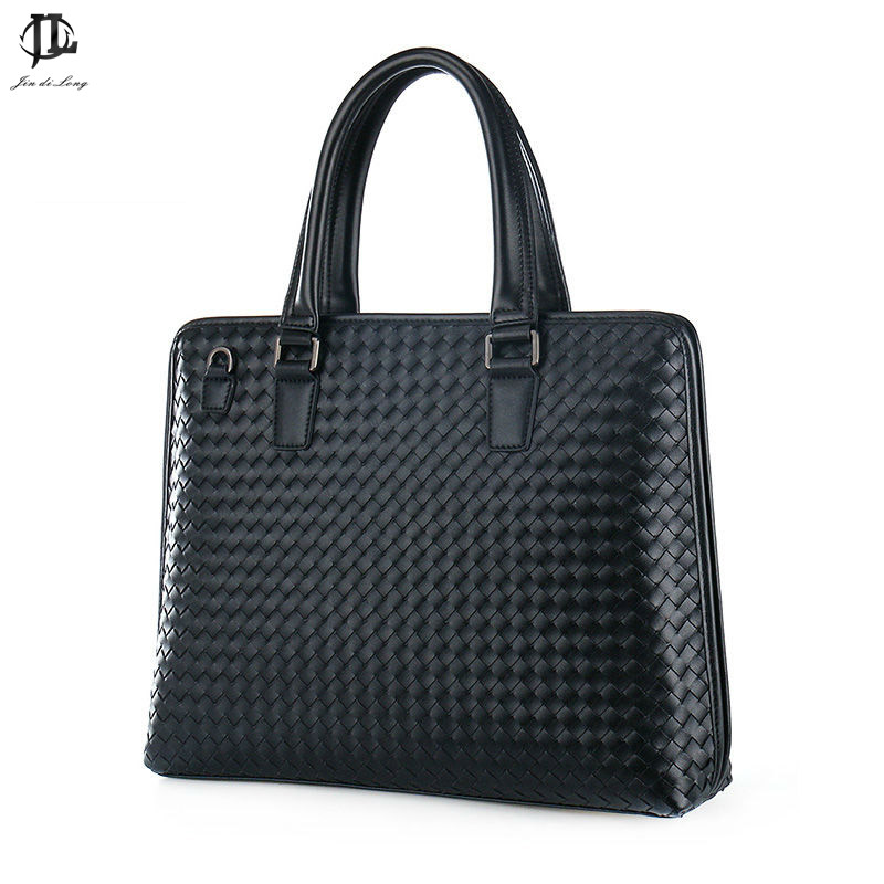 fashion woven men handbags briefcase soft leather business bags totes men shoulder bags messenger bags cross body men bag new men business bags men soft briefcase bags man bags for office 2017 male handbag cross body shoulder leather handbag black