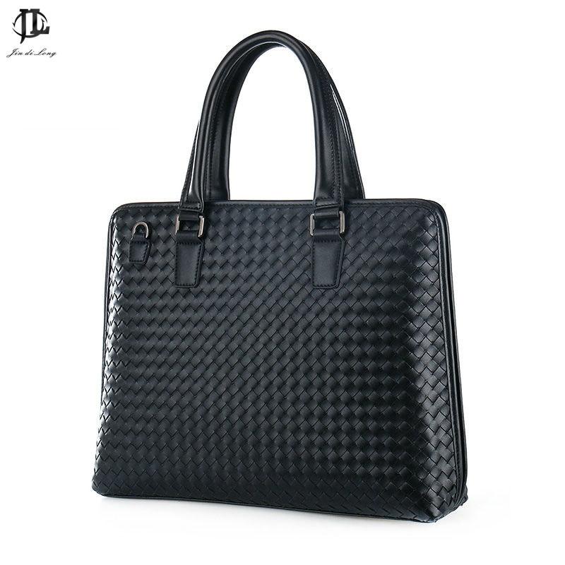 fashion woven men handbags briefcase soft leather business bags totes men  shoulder bags messenger bags cross body men bag a5bac9ebec