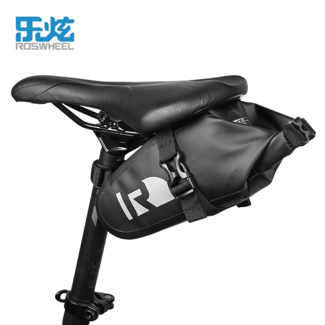 ROSWHEEL DRY  Bike Bicycle Cycling Bags Panniers Full Waterproof PVC Accessories Rear Tail Saddle Bags for MTB Road Bike