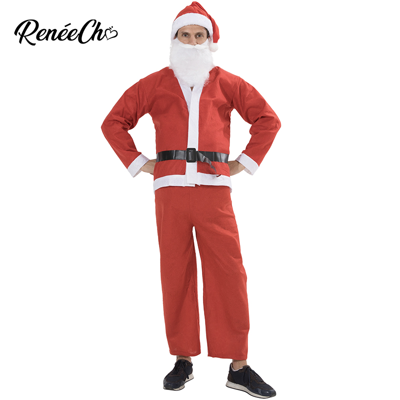 Plus Size Christmas Costumes.Us 6 99 35 Off 2018 Santa Claus Costume Adult Father Christmas Costume For Men Plus Size Santa Costume New Year Costume 5 Pieces Full Set In Girls