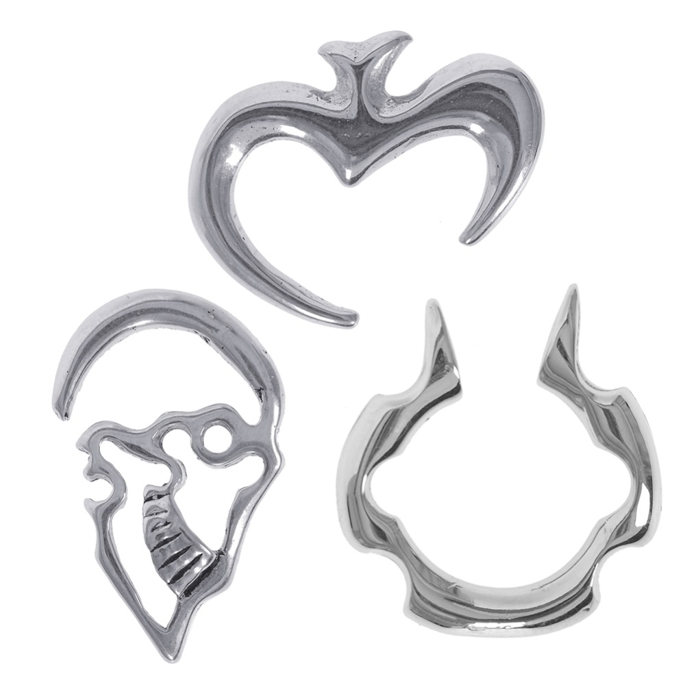 1 Pc Hot Punk Steel Spiral Thread Gauge Ear Plugs Fake Stretcher Cheater Flesh Expansion Puncture Earrings Piercing Jewelry in Body Jewelry from Jewelry Accessories