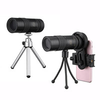 Hot Sale 10 30x Telephoto Telescope Monocular Camera Lens+ Cell Phone Clip +Tripod Stand Objective + Eyepiece Adjustment