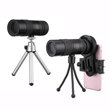 On sale Hot Sale 10-30x Telephoto Telescope Monocular Camera Lens+ Cell Phone Clip +Tripod Stand Objective + Eyepiece Adjustment