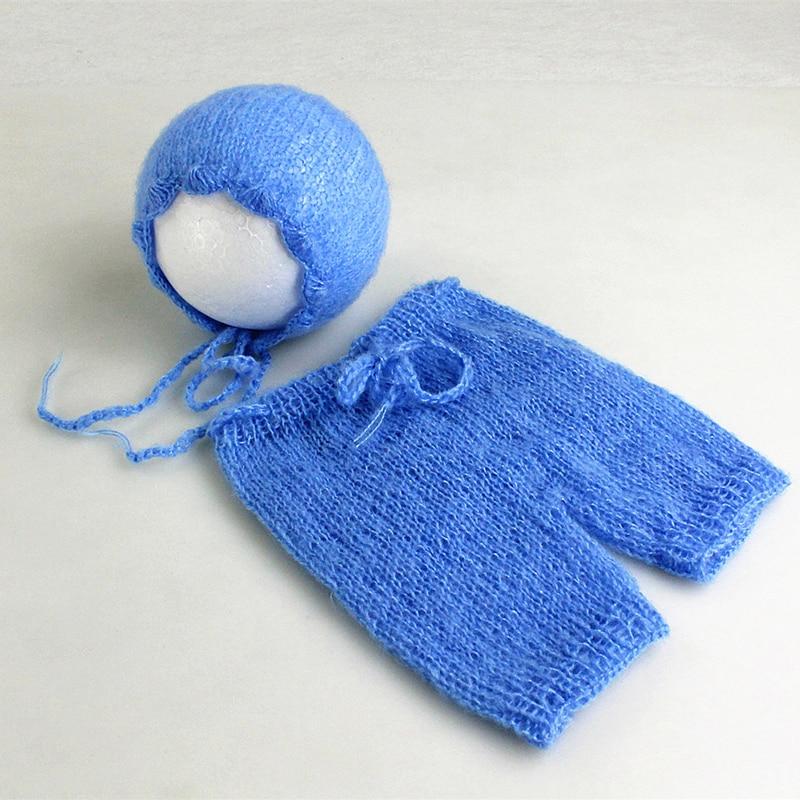 Mjuka Mohair Nyfödda Fotografier Props Kostymer Cap / Hat + Ruffles - Babykläder - Foto 6