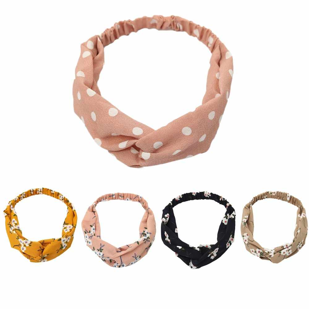 Yoga อุปกรณ์เสริมแฟชั่นผมใหม่วง yoga กีฬาสุภาพสตรีฟิตเนส gum Boho Floral Twist Knot Headband Wrap Turban # t38