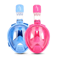 XS size Curved surface Kids Full Face Free breathing Snorkeling Mask Child Anti Fog diving Snorkel Mask For kids dive Training