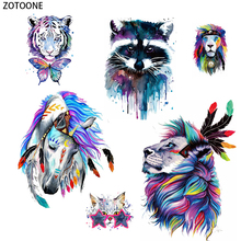 ZOTOONE Fashion Ink Painting Patch for Clothing DIY Iron on Transfer Stickers Applique Heat Applications Custom Patches Stripes