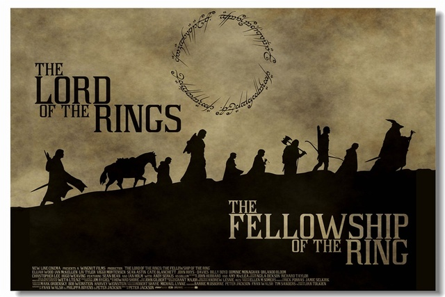 custom canvas wall painting the lord of the rings poster the