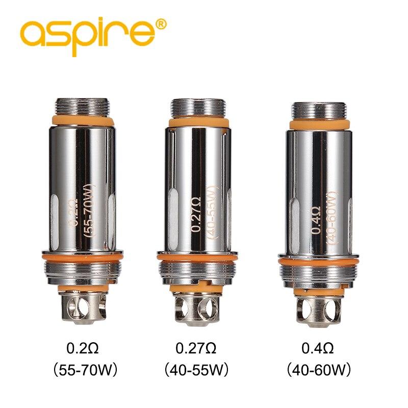 5pcs Cleito Coils For Electronic Cigarette 0.2ohm 0.27ohm 0.4ohm Aspire Cleito Coil Heads Replacement Atomizer E-cigarette
