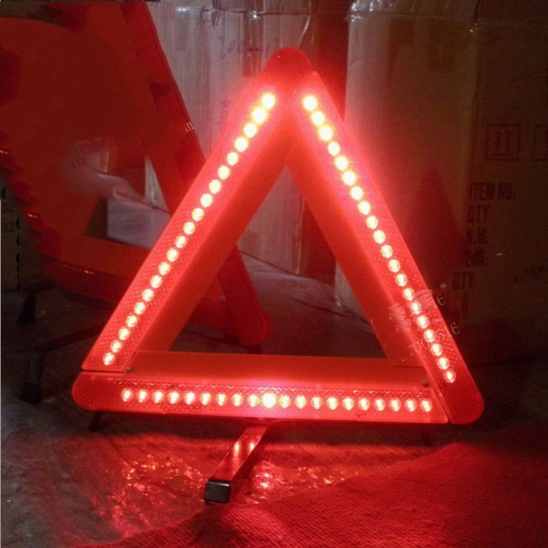 High Quality Car Emergency Reflective Triangles Car Warning Triangels Led Light Sign emergency stop Road Parking