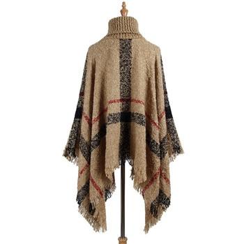 Hiawatha 2018 Long Turtleneck Cloak Knit Women Loose Plus Size Pullover Fashion Tassel Sweater M110 4