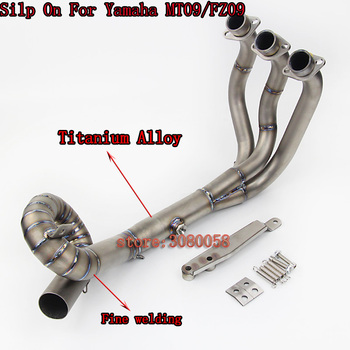 MT09 FZ09 Titanium Alloy Motorcycle Exhaust Muffler For YAMAHA Escape Moto MT-09 FZ-09 Exhaust Front Pipe