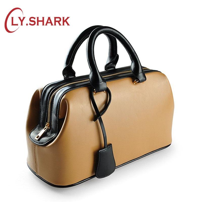 LY.SHARK Luxury Bags For Woman Brands Women Leather Handbags Genuine Leather Bags 2019 Women Handbags Doctor Bags Bolsa Feminina doctor bag