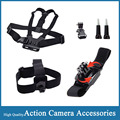 Action Camera Accessories Head Belt Chest Body Strap 360 Rotation Wrist Strap Tripod Mount for Gopro Hero Xiaomi Yi SJCAM SJ4000
