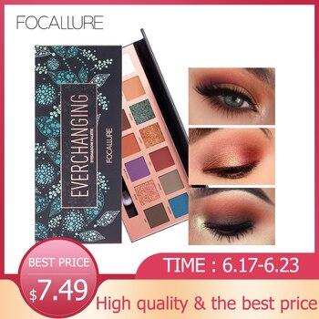 Focallure 14 цветов Pro блеcтящие тени для век для макияжа Pallete Shimmer Палитра теней Пигмент красота Макияж Тени >> Maria Makeup Store