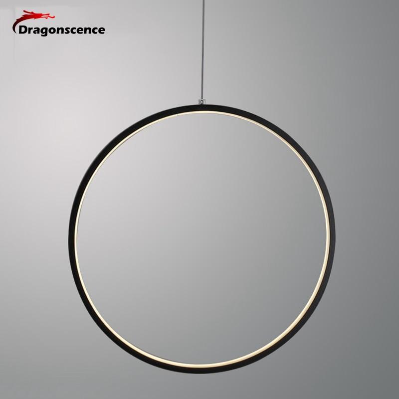 Dragonscence Modern LED Chandelier Lights round ring Circle Pendant Lamp Home For Living Room Lighting Indoor Fixture цена 2017