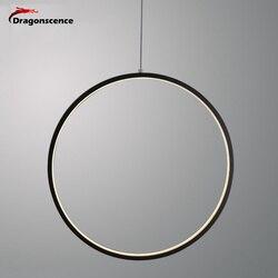 Dragonscence Modern LED Chandelier Lights round ring Circle Pendant Lamp Home For Living Room Lighting Indoor Fixture