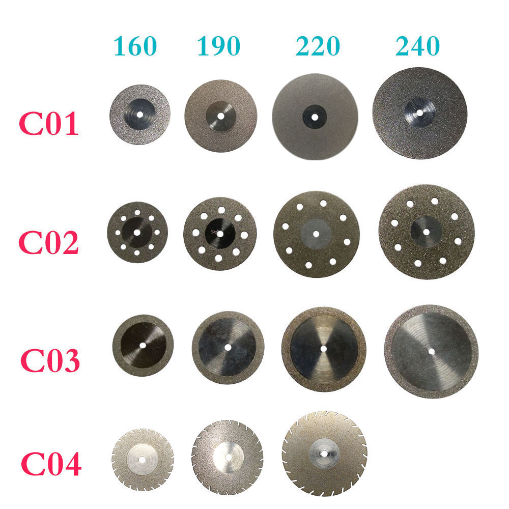 15 pieces/set Dental Diamond Disc Thin Ultra-thin Double Sided for Cutting Polishing Ceramic/Metal
