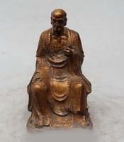 6 Chinese Buddhism Wood Seat Eminent monk Dharma Bodhidharma Damo Statue