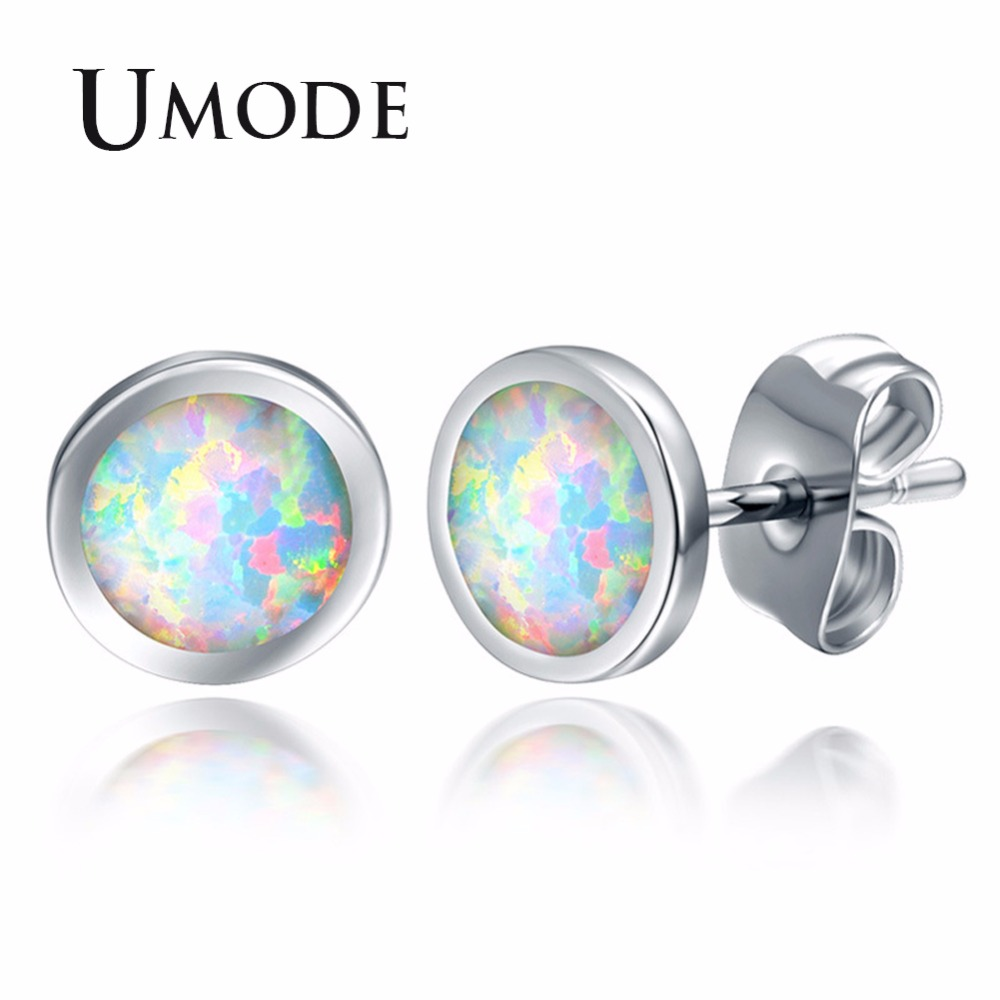 eacc2d862 UMODE Fashion Round White Opal Women Stud Earrings Femme Wedding Party  Jewelry Girls Claires Accessories High Quantity UE0397-in Stud Earrings  from Jewelry ...