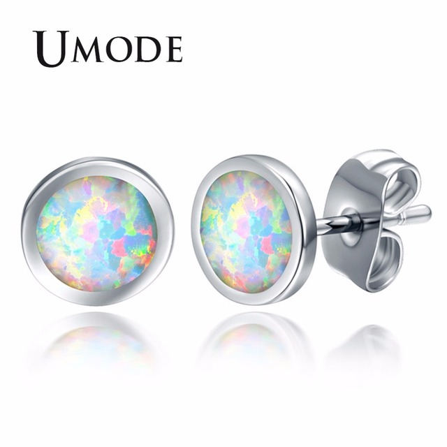 8aa3563a9 UMODE Fashion Round White Opal Women Stud Earrings Femme Wedding Party  Jewelry Girls Claires Accessories High