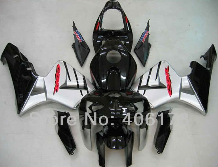 Hot Sales,Cheapest Fairing For Honda F5 CBR600RR 2005 2006 Motorcycle Silver and Black Body work fairing (Injection molding)