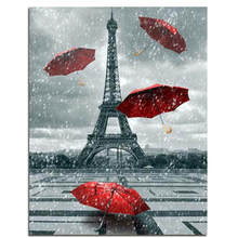 Diy Canvas Painting For Wall Decoration,Painting By Number 40x50cm,Tower,Paint Kits Adults