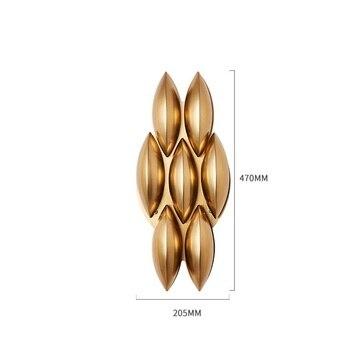 Postmodernistyczna Kreatywny Proste Lampy Złote światło Luksusowa Willa Salon Modelu Pokoju Pokój Kinkiet