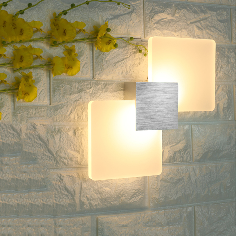 Interior LED Wall Lamp Surface Mount Home Lighting Modern Acrylic Light Bedside Lamp Indoor Wall Lamp AC85-265V Sconce LP19 modern t shirt led wall lamp mounted light bedroom bedside sconce acrylic lampshade white painting indoor home lighting