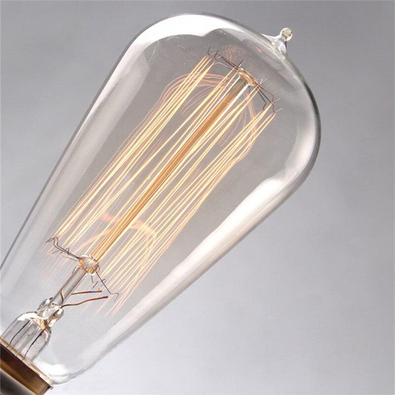 Retro lamp ST58 Vintage Edison bulb E27 Incandescent bulb 110V 220V 40W 60W Edison Light for Coffee bar Restaurant Bedroom