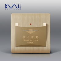 Free Shipping Kempinski Luxury Wall Switch Card Switch Insert Key For Power Champagne Gold AC 110