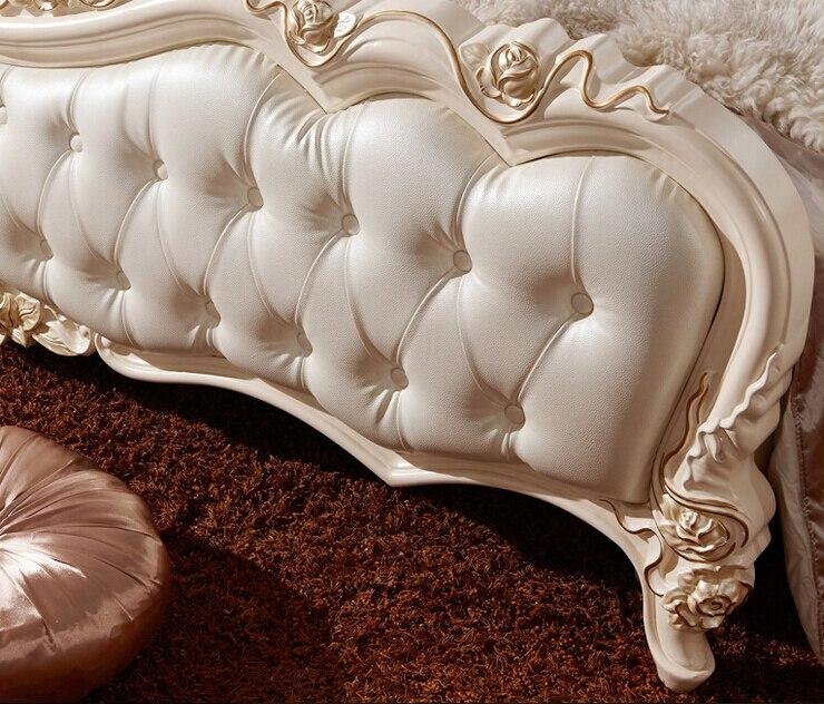 Lujo moderno estilo francés real rey crema de matrimonio cama de ...