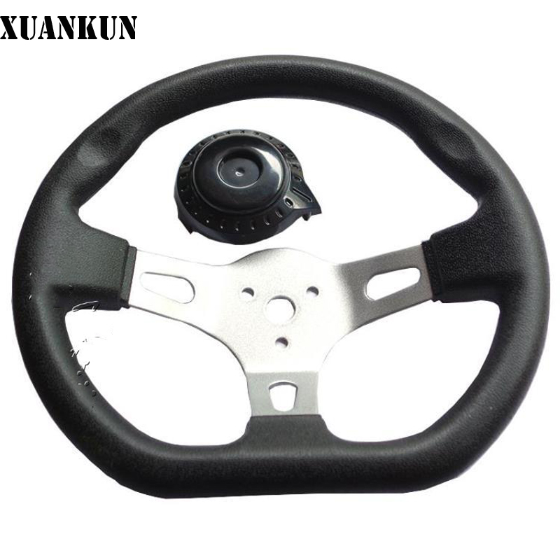 XUANKUN  Self-Made Drift Karting Steering Wheel Four Round Kart Wheel Ssteering Wheel Diameter 27 cm Steering Wheel geoff burch self made me why being self employed beats everyday employment