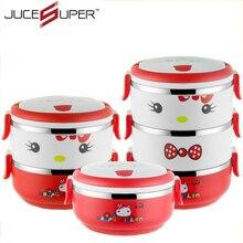 Hohe Qualität PP + Edelstahl Lunchbox Bento küche Gerichte Container Fall Geschirr Geschirr lebensmittelbehälter