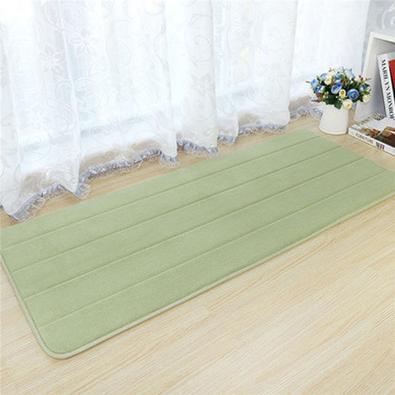 Machine washable bedroom floor pad pad kitchen bath rug Washable bathroom carpet cut to fit