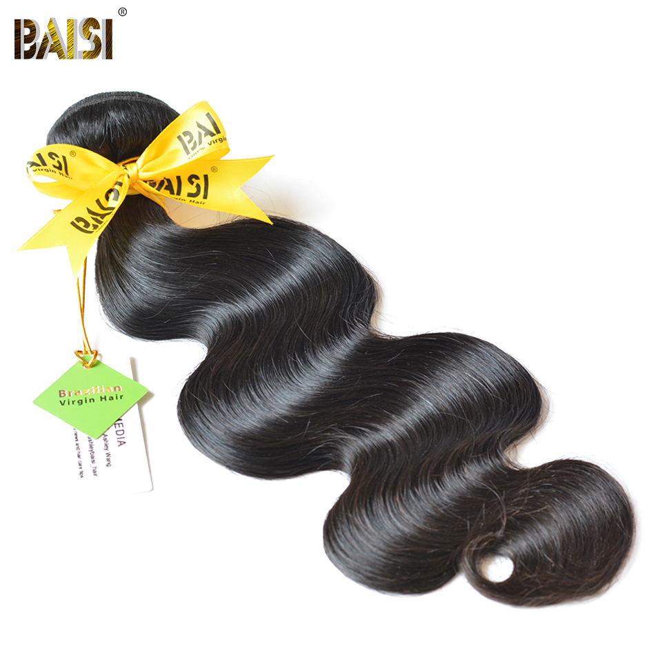 BAISI Body Wave Brazilian Virgin Hair 8-36inch Nature Color 100% Unprocessed Human Hair Bundles Free Shipping