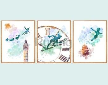 """DIY pintura de diamantes pintura de tinta animación """"Peter Pan"""" mosaico de diamantes bordado punto de cruz artesanía hogar Decor5D"""