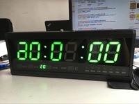 DHL Free shipping Aluminum Large Digital LED Wall Clocks Big Watch Modern Design Home Decor Decoration