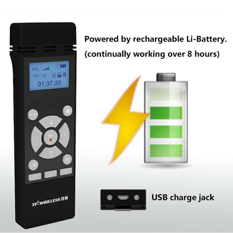 TP-WIRELESS 2.4GHz Système de microphone portable sans fil pour - Audio et vidéo portable - Photo 5