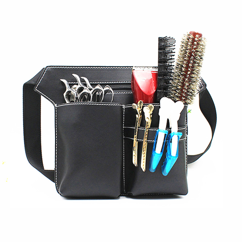 Professional Multifunction Hair Scissors Leather Case Waist Belt Barber Packet Salon Holster Pouch Hairdressing Scissors Kit Bag