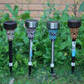 5pcs  mosaic stainless steel solar energy lawn light led solar light outdoor path street garden deoration lighting