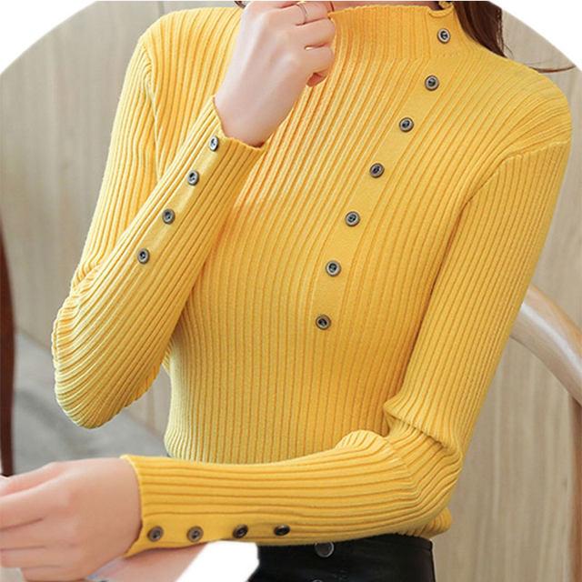 Women Sweater Turtleneck Sweaters Women Korean Fashion Woman Knitted Sweater Women Sweaters and Pullovers Winter Clothes Women 17